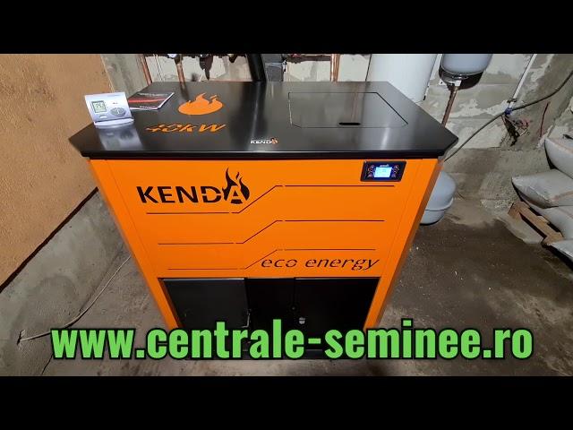 Centrala pe peleti Kenda 40 kw - Inlocuire centrala pe lemne veche - Montaj Rapid