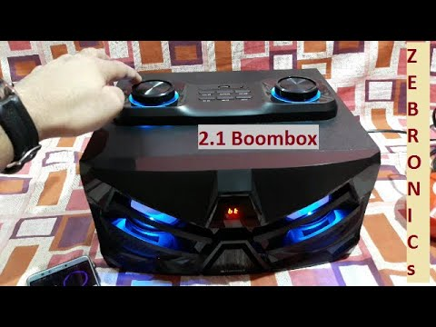 Zebronics Space Car 2.1 Boombox Unboxing & Testing