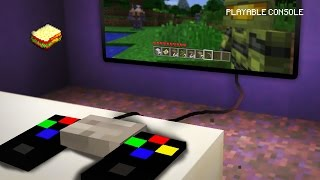 Minecraft | How to make a Playable Console | redstone