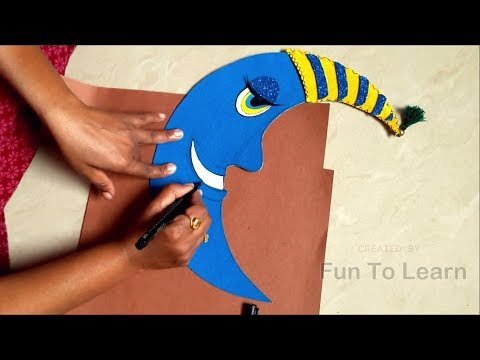 Craft Ideas For Kids | Wall Hanging DIY With Paper | Moon Wall Art | Fun To Learn