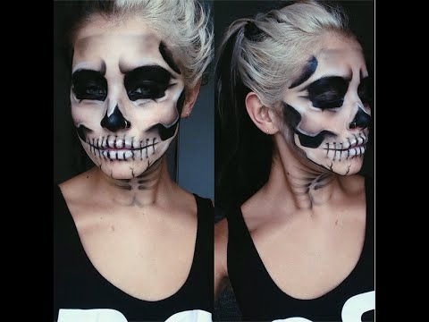Halloween Skull Makeup Tutorial // Jamie Genevieve - YouTube