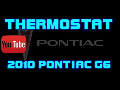 2010 pontiac g6 2 4 thermostat replacement youtube 2009 Pontiac G6 Thermostat Location 2010 pontiac g6 2 4 thermostat replacement