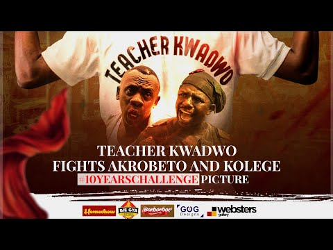 Teacher Kwadwo fights Akrobeto and Kolege over  10yearsChallange  picture.😂