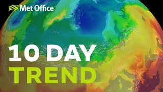 10 Day Trend – Jet stream dives south 22/05/19