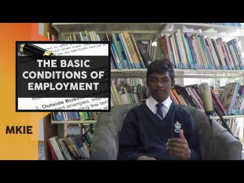 The Basic Conditions of Employment Act - MKIE Lesson 12
