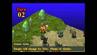 Kartia Word of Fate Gameplay | PSX 1, Playstation 1, PS 1 | Tactical Roleplaying Game