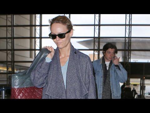 Vanessa Paradis And Boyfriend Benjamin Biolay Jet Out Of L ... Vanessa Paradis Boyfriend