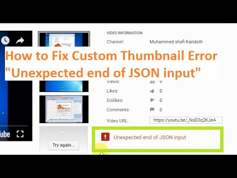 How to Fix YouTube Video Custom Thumbnail Error