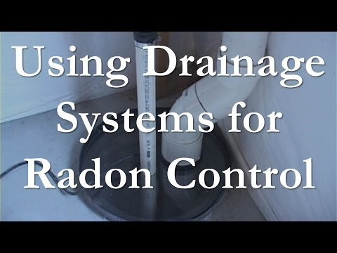 Using Drainage Systems to Mitigate Radon