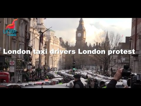 Black cab demo London