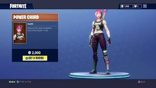 Nouveau légendaire Fortnite Skin Power Chord, Anarchy Axe et Stage Dive