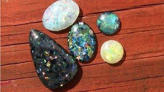 Faux Opal Resin Cabochons DIY Tutorial Demo (ArtResin)