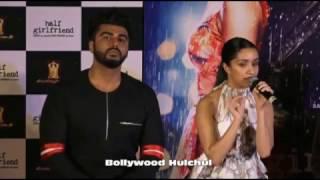 arjun kapoor and shraddha kapoor at half girlfriend trailer launch
