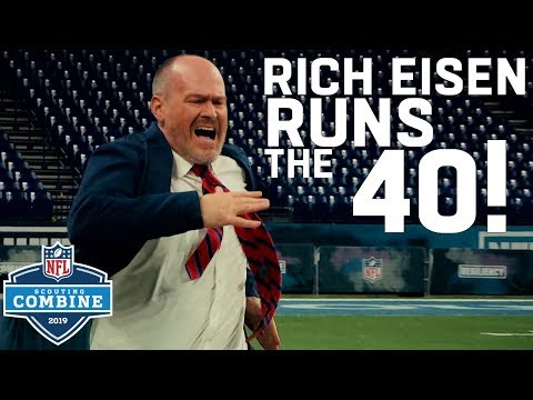 The Man Cave - Rich Eisen Runs the 40 & Simulcams vs. Top Combine Performers