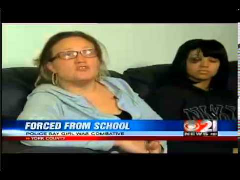 16 yr-old female student says York, Pennsylvania police injured her