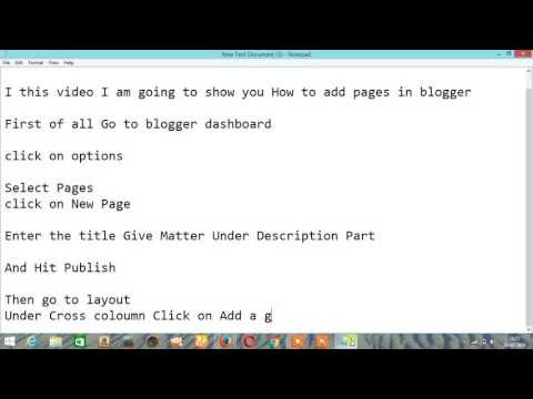 How to Create/Add pages in Blogger/Blogging Tips/Blogger
