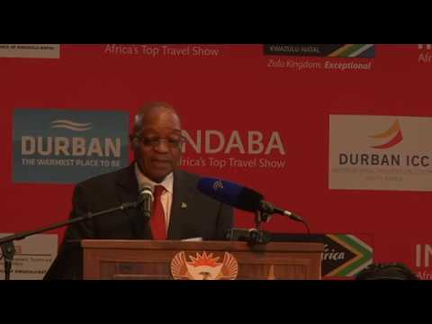 President Jacob Zuma officially opens Africa's Travel Indaba 2017