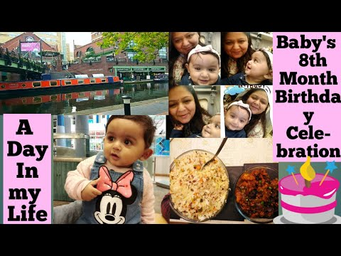 a-day-in-my-life-||-baby's-8th-month-birthday-celebration-||-birmingham-canal-tour-||-special-dinner