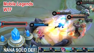 Mobile Legends WTF Funny Moments Nana Solo DEF