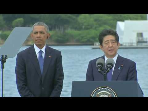 Abe offers condolences at Pearl Harbour for victims of war