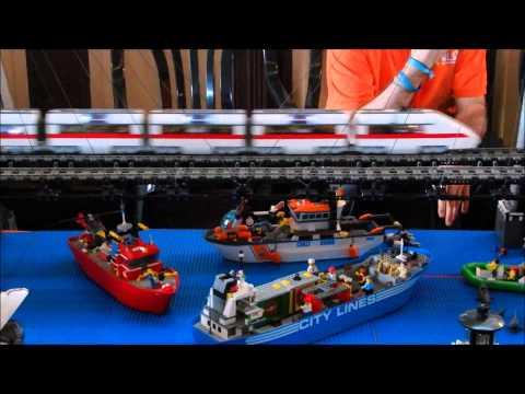 Muestra Lego Tren 2014 Museo del Ferrocarril Delicias
