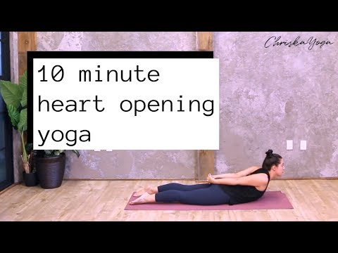 10 Min Heart Opening Yoga Routine | Energizing Yoga for Better Posture | ChriskaYoga