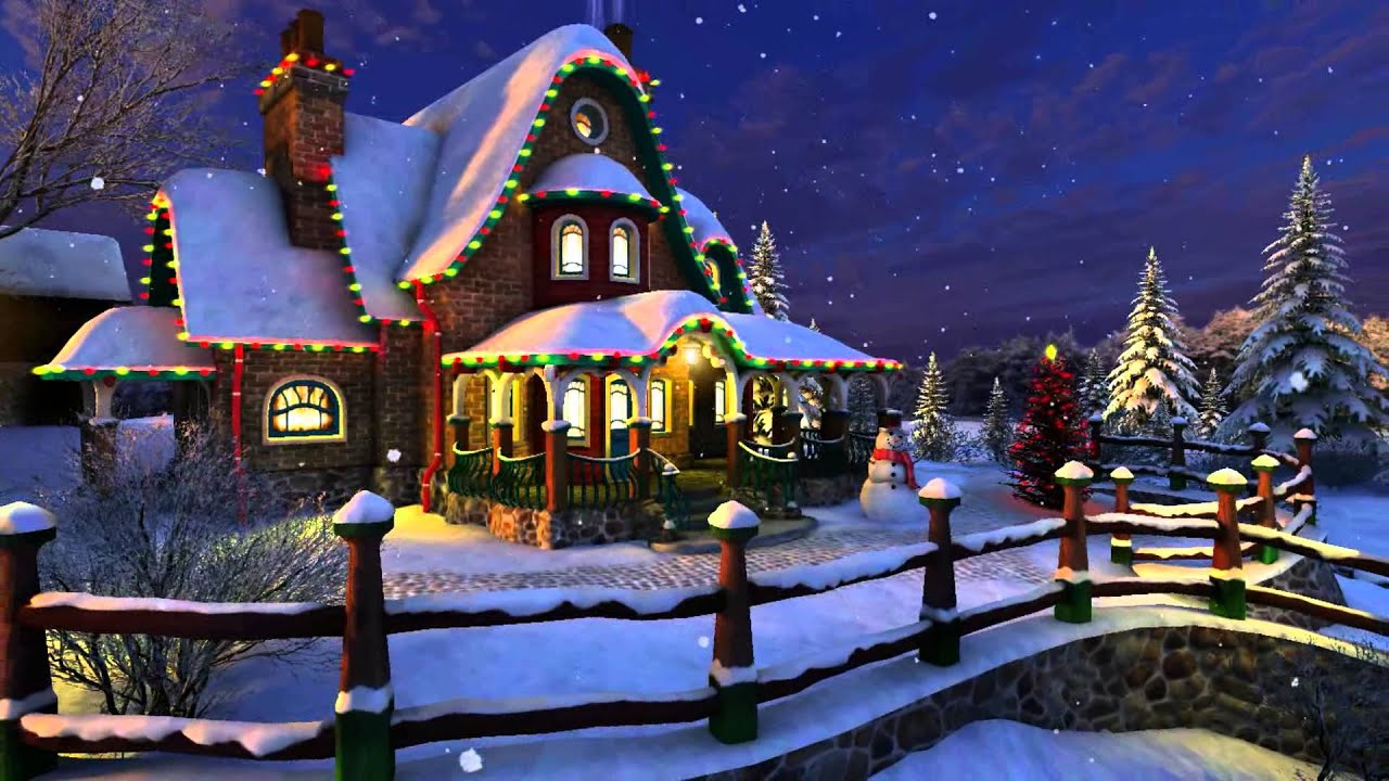 Snow Village 3d Live Wallpaper And Screensaver Winter Memories 3d Screensaver Guitar Amp Violin Hd