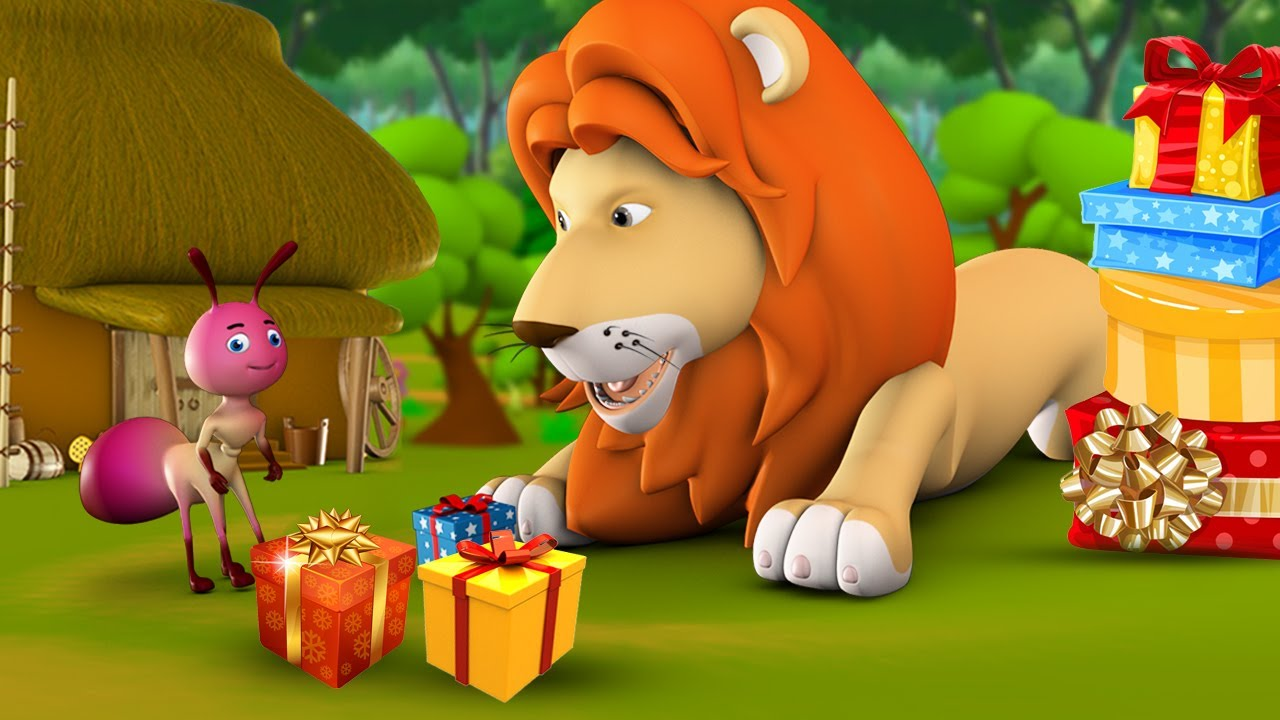 Sad Lion King 3D Animated English Moral Stories for Kids | Children Bedtime Stories Animals Tales