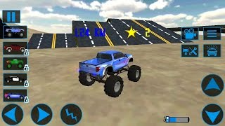 Monster Truck Simulator Driving 3D - Android Gameplay - Trucks For Kids Racing Stunts Compilation