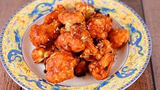 """Korean Fried Cauliflower """"Wings"""""""