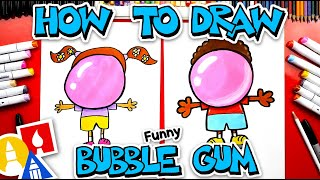 How To Draw A Kid Blowing A Giant Bubblegum Bubble