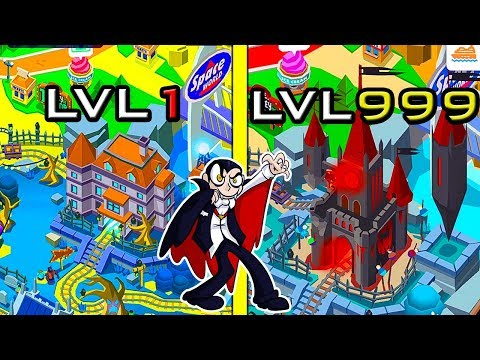 Idle Dracula Castle! MAX LEVEL CASTLE EVOLUTION !!! Idle Theme Park LVL 5000 REACHED ?