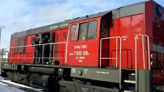 Zimny rozruch lokomotywy T448p. Starogard Gdański