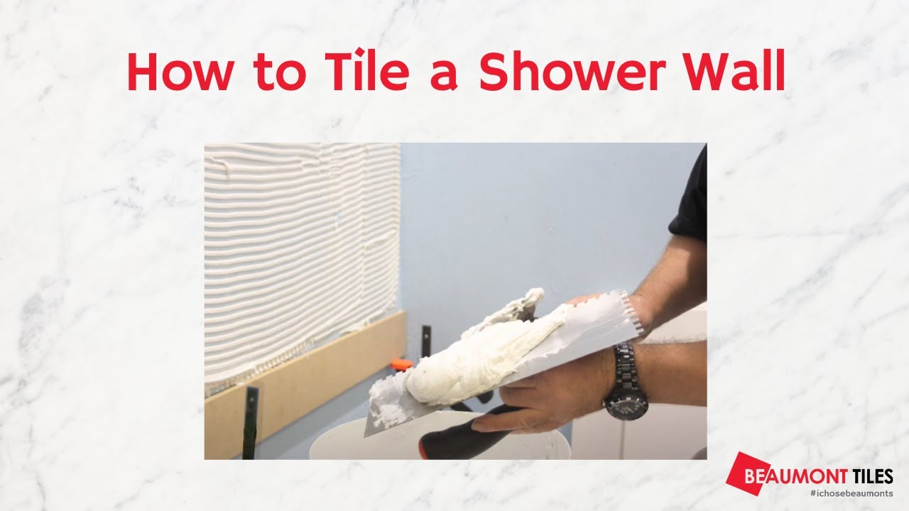 How to Tile a Shower Wall: DIY Tiling Made Easy - YouTube