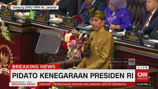 Berbaju Adat Bumi Sasak NTB, Presiden Sampaikan Pidato di Sidang Tahunan DPD-DPR RI
