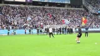 MFFtv: FC Rosengård hyllades under halvtidsvilan mellan MFF och IF Elfsborg (2014-10-18)