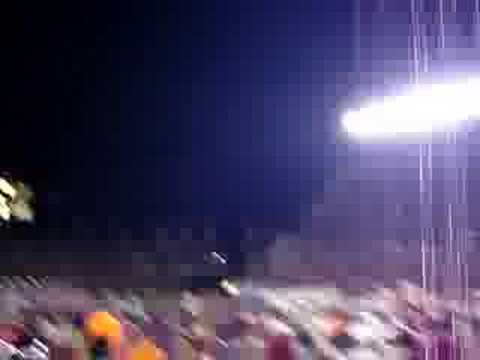 Running on the field after Virginia Tech upset Cle...