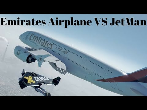 Emirates Airplane -HelloJetman    Emirates Airplane VS JetMan
