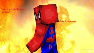 How to get Spiderman in minecraft with just 1 command!!!!