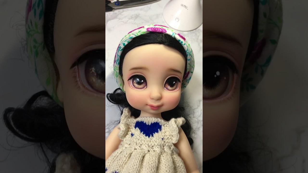 디즈니 베이비돌 백설공주 리페인팅