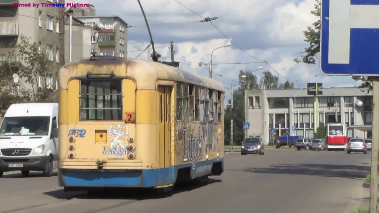 Даугавпилсский трамвай Trams in Daugavpils, Latvia/Lettland