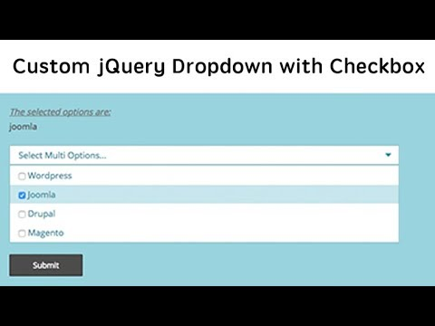 Multi-Select Custom Dropdown with Checkbox | jQuery