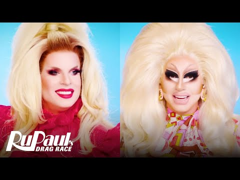 The Pit Stop S13 E16   Trixie Mattel & Katya Vibe to the Grand Finale 🤣 RuPaul's Drag Race