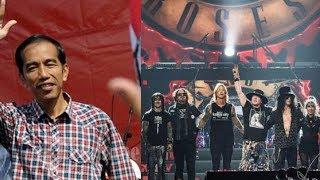 Pendukung Nonton Guns N' Roses, Emak Militan Jokowi: Millenial Banget, Love You Full
