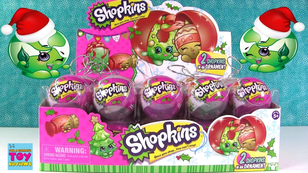 Shopkins Christmas Ornaments 2016 New Characters Blind Bag Toy ...