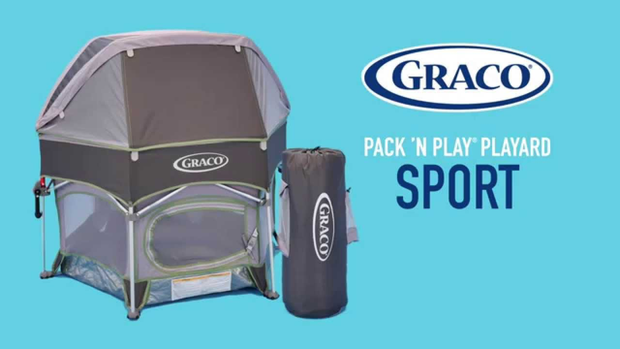 Comfortable Outdoor Play with the #Graco #Pack u0027n Play #Playard Sport - YouTube  sc 1 st  YouTube : graco pack n play canopy - memphite.com