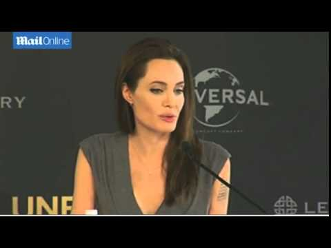 Angelina Jolie promotes new movie...