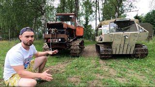 Бюджетный гусеничный вездеход и ДТ75 на японском V8 в болоте!