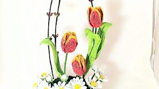 Мастер класс Танец Весны Часть 2. Цветы из бисера Beaded flowers