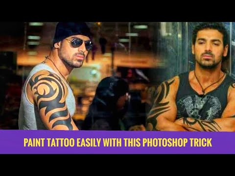 How To Design A Tattoo I Body Art On John Abraham Using Photoshop | Photoshop Tutorial